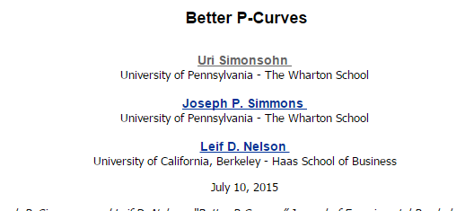 image of SSRN better p-curves